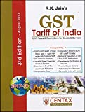 Centax Publication's GST Tariff of India 2017-18 by R. K. Jain [August 2017 Edn.]