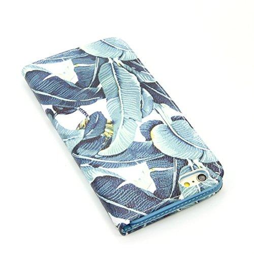 SmartLegend Vintage Etui Coque pour Apple iPhone 6 Plus (5.5 pouces)/iPhone 6s Plus (5.5 pouces) (Paris und London)Luxe Wallet Hull Première Qualité Fonction Stand Flip Case Pochette Protection PU Cui Leaf