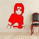 zhuziji Creativo Fai da Te Arte della Parete di Anime Giapponesi Naruto Sasuke Adesivi murali camere per Bambini Decorazione della casa Adesivi murali Soggiorno 888-2 58 cm x 81 cm