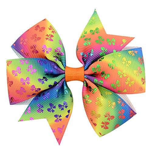 Clacce 8PC Pack Mädchen Mode Headwear Farbverlauf Bogen Haarspange Clips
