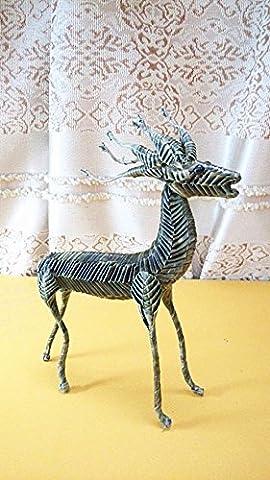 Deer Hand Woven Animal Modell handgemachte Geschenke Basteln reinen, natürlichen Leaf, so