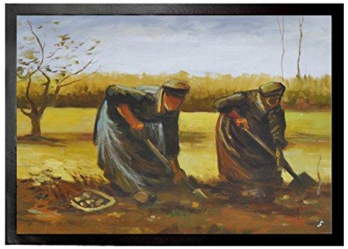 Vincent Van Gogh - Dos Campesinas Sacando Patatas, 1885 Felpudo Alfomb