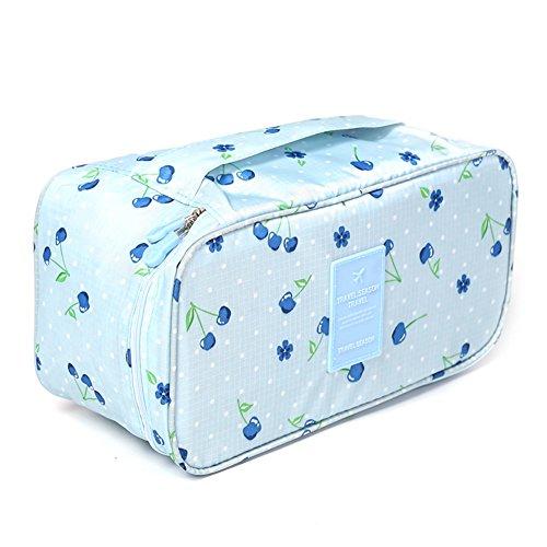 Travel Gepäck Organisatoren cubes-compression Beutel für Unterwäsche, BH, Socken, Blau, VAYEEBOUnderwear Blue cherry (Carry Gucci On)