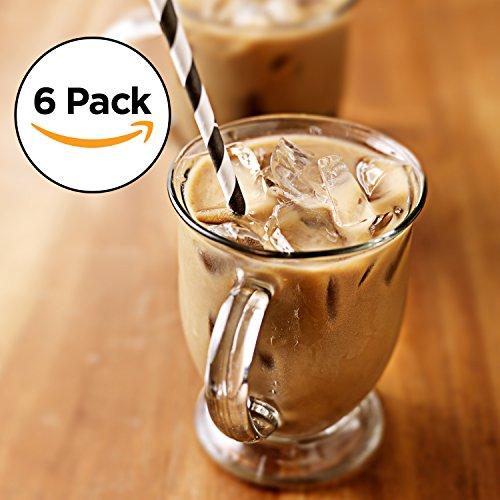 Amethya Juego de Vasos de Cristal formado por 6 Tazas para café y té (0,35 l)