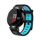 Zantec IP67 - Pulsera inteligente con pantalla de color resistente al agua, Bluetooth, monitor de frecuencia cardíaca, deporte, fitness, color azul
