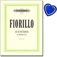 36etueden o capricen per violino solo–Federigo fiorillo–Classico Studio materiale–Note musicali con colorato herzfoermiger Note KLAMMER