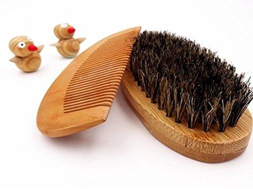Hombre Barba plege Barba Set peine cepillo barba largo