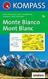 Monte Bianco: Wander-, Bike- und Skitourenkarte. Carta escursioni, bike e sci alpinismo. 1:50.000