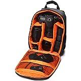 Heekpek Cámara Bolsa DSLR Mochila Impermeable a Prueba De Agua Para Sony Nikon Canon Con Soporte Para Trípode (Naranja)