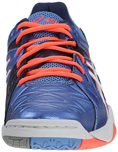 Asics Womens Gel Cyber Sensei Volleyball Shoe Powder Blue/White/Coral