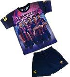 Ensemble Maillot + short Barça - NEYMAR MESSI SUAREZ XAVI INIESTA - Collection officielle FC BARCELONE - Taille enfant garçon 4 ans