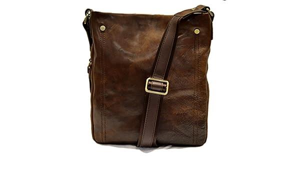 Leather shoulder bag mens women messenger leather satchel crossbody leather  postman bag dark brown hobo bag sling leather bag new  Amazon.co.uk   Handmade d8f5346fa1634