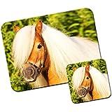 Poni y poni alfombrilla de ratón/Pad y posavasos Stunning Brown Shetland Pony