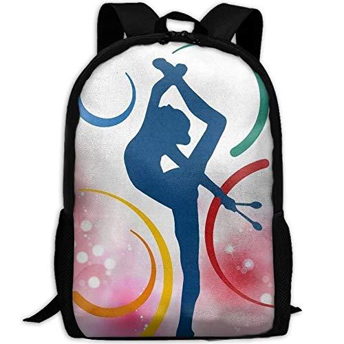 HOJJP Mochila escolar Cool Yoga Gymnastics Laptop Backpack School Bag Shoulder Bag Travel Daypack Handbag
