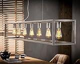 Pendelleuchte Zijlstra 7489/29S Rohr Loft Industrie-Look Lampe Esszimmerbeleuchtug Hängelampe 7x E27 Silber-Finish Höheneinstellbar