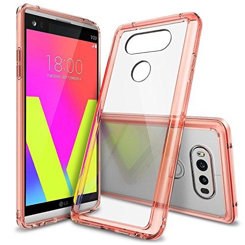 LG V20 Hülle, Ringke FUSION kristallklarer PC TPU Dämpfer (Fall geschützt/ Schock Absorbtions-Technologie) für das LG V20 - Rosengold - Fall Jordans Telefon