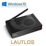 Mini PC - lautlose CSL Narrow Box Ultra HD Storage Line/Win 10 - Silent-PC mit Intel QuadCore CPU 2300MHz, 32GB SSD, 4GB DDR3-RAM, Intel HD, AC WLAN, USB 3.1, HDMI, SD, Bluetooth, Windows 10