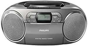 philips azb600 cd radiorekorder mit dab dynamic bass boost ukw dab cd kasseten deck. Black Bedroom Furniture Sets. Home Design Ideas
