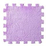 Hunpta 6 Stück EVA Eco Puzzle Teppich Mosaik Fliesen Wohnzimmer Kissen Nachttisch Teppich (Lila)