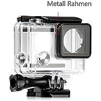 Mc Boddy Wasserdichte Schutzhülle für Ihre GoPro Hero 4, 3+, 3 Black/Silver Sport Kamera, Schutzgehäuse wasserdicht bis 45 m Wassertiefe