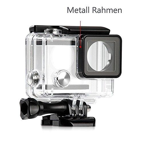 MC Boddy Coque de protection étanche pour votre GoPro Hero 4, 3+, 3Black et Silver Caméra de sport, boîtier de protection étanche jusqu'à 45m Profondeur d'eau