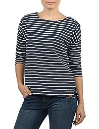 830f69640ac2f6 DESIRES Leni Damen Sweatshirt Pullover Sweater Mit U-Boot-Ausschnitt Und 3/4