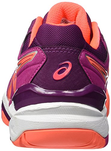 Asics Damen Gel-Resolution 6W Tennisschuhe Multicolore (Berry/Flash Coral/Plum)