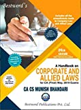 Handbook on Corporate and Allied Laws Latest Edition CA Final Old Syllabus By Munish Bhandari Applicable for May 2019 Exam