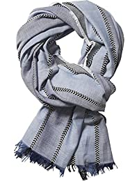Scotch & Soda Herren Halstuch Gentleman's Scarf in Lightweight, Cotton Quality with Herringbone Patterns