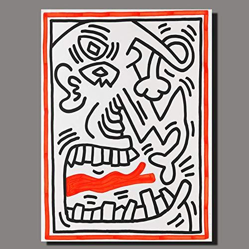 yiyiyaya Europäische ölgemälde Leinwand Kunst Amerikanische Flagge Abstrakte Kunstdrucke Poster Für Wohnzimmer Moderne Cartoon Leinwand Painting-70x90CM_NO_Frame_Keith_ (34)