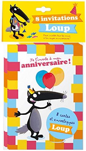 Pack de 8 cartes d'anniversaire Loup par Lallemand