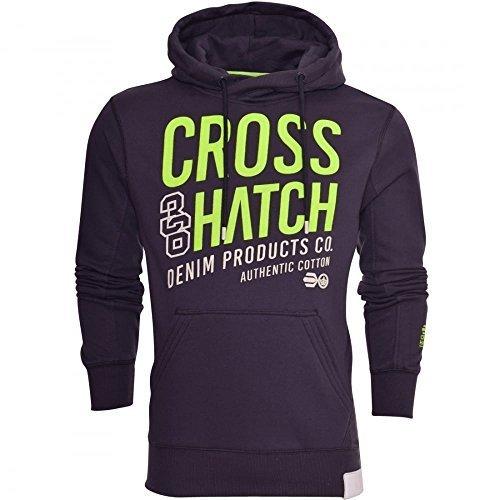 Periskop Tasche (Crosshatch Herren Designer Freizeit Mit Kapuze Logo Top Kapuzenpullover Fleece Sweatshirt Jacke - Periskop, Small)