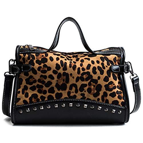 aufstasche Tasche Mode Leopard Handtasche Patchwork Crossbody UmhäNgetasche Tasche Leopard 26Cm ()