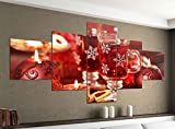 Acrylglasbilder 5 Teilig 200x100cm Weihnachten Tee Tisch Küche rot Druck Acrylbild Acryl Acrylglas Bilder Bild 14F551, Acrylgröße 11:Gesamtgröße 200cmx100cm