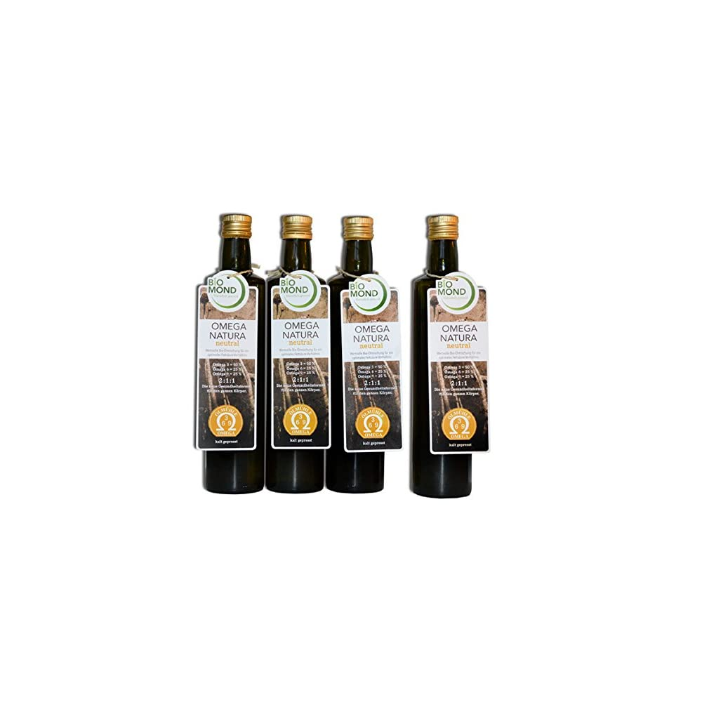 Omega 3 6 9 Natura Speise L Von Biomond4 X 500 Mlaktion 3 Plus 1 Gratisungefiltertfrisch Gepresstaus 6 Bio Speisele