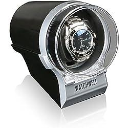 Watchwell Watch Winder Devo Silver/Black