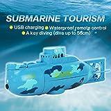 Daxoon Kinder RC Boat,Mini RC Racing Submarine Boat Fernbedienung U-Boot Wasserspielzeug Geschenk Für Mädchen Jungen