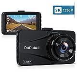 DuDuBell Dashcam 1296P 2K Autokamera Auto Dash Kamera Full HD Video Recorder DVR 170° Weitwinkel 6G Objektiv Nachtsicht G-Sensor Loop-Aufnahme HDR Bewegungserkennung Parküberwachung