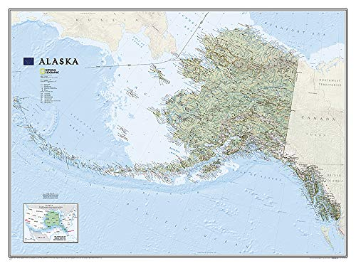 National Geographic Map Alaska, Planokarte (National Geographic Reference Map)
