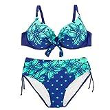 Pride S Mode Bikini Split Badeanzug Große Größe Atmungsaktive Spa Badeanzug Strand Badeanzug (Farbe : Blau, Größe : XXXL)