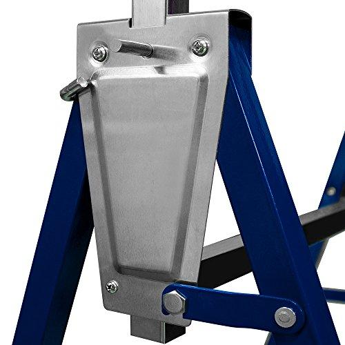 2x Gerüstbock Unterstellbock Klappbock Stützbock höhenverstellbar 81-130 cm Gerüst 400kg Tragkraft insgesamt - 2