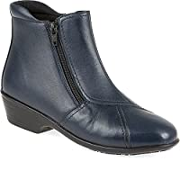 Pavers Wider Fit, Dual Zip Fastening Leather Ankle Boot 146 311