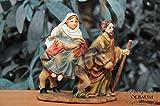 Krippenzubehör-Set für Weihnachtskrippen- & Figuren - mit LED-Beleuchtung - Krippenfigur, Zusatzfiguren Herbergssuche von Maria und Josef zur Jesus im Stall, Lk 2,4-7- Passion Christi - für 9-10 cm Figuren