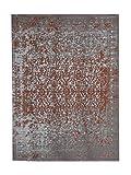 Teppich Wohnzimmer Carpet Vintage Design Sunny 310 RUG Abstrakt Muster Polyester 200x290 cm Beige / Teppiche günstig online kaufen