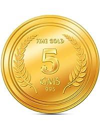 A Himanshu 5 grams 24k (995) Yellow Gold Precious Coin