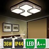 HG® 36W LED Deckenlampe Deckenleuchte Warmweiß Modern Wohnzimmer Leuchte Schlafzimmer Korridor