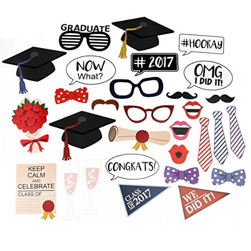 OULII Graduierung Foto Requisiten Graduierung Phtoto Stand Requisiten 2017 Graduation Party Dekorationen (2017 Party Kostüm)