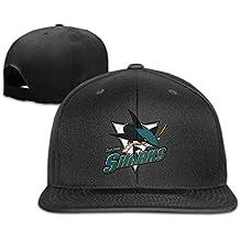 San Jose Sharks Flat Bill gorra de béisbol sombrero gorra ajustable talla única unisex Natural