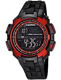 Calypso watches - K5595/3 - Montre Garçon - Quartz Digital - Alarme/Chronomètre/Eclairage - Bracelet Plastique Noir