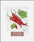 Keilrahmen-Bild - Claudia Ancilotti: Hot Chili Pepper Leinwandbild Stillleben Küche Gemüse Paprika modern (40x50)